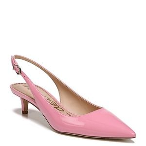 Sam Edelman Pink Patent Leather Slingback Pumps